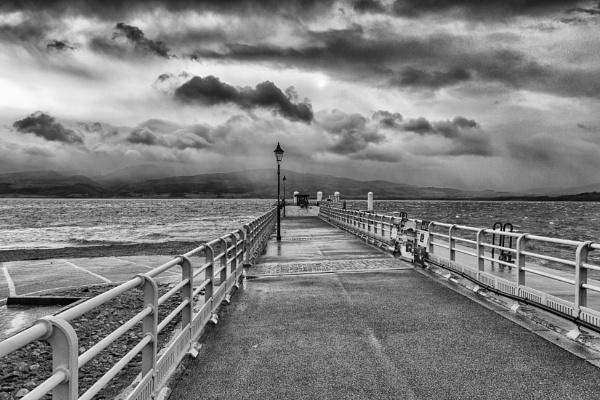 Stormy morning on Beaumaris Pier by Owdman