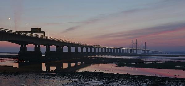 Severn Crossing at Dusk by SamP