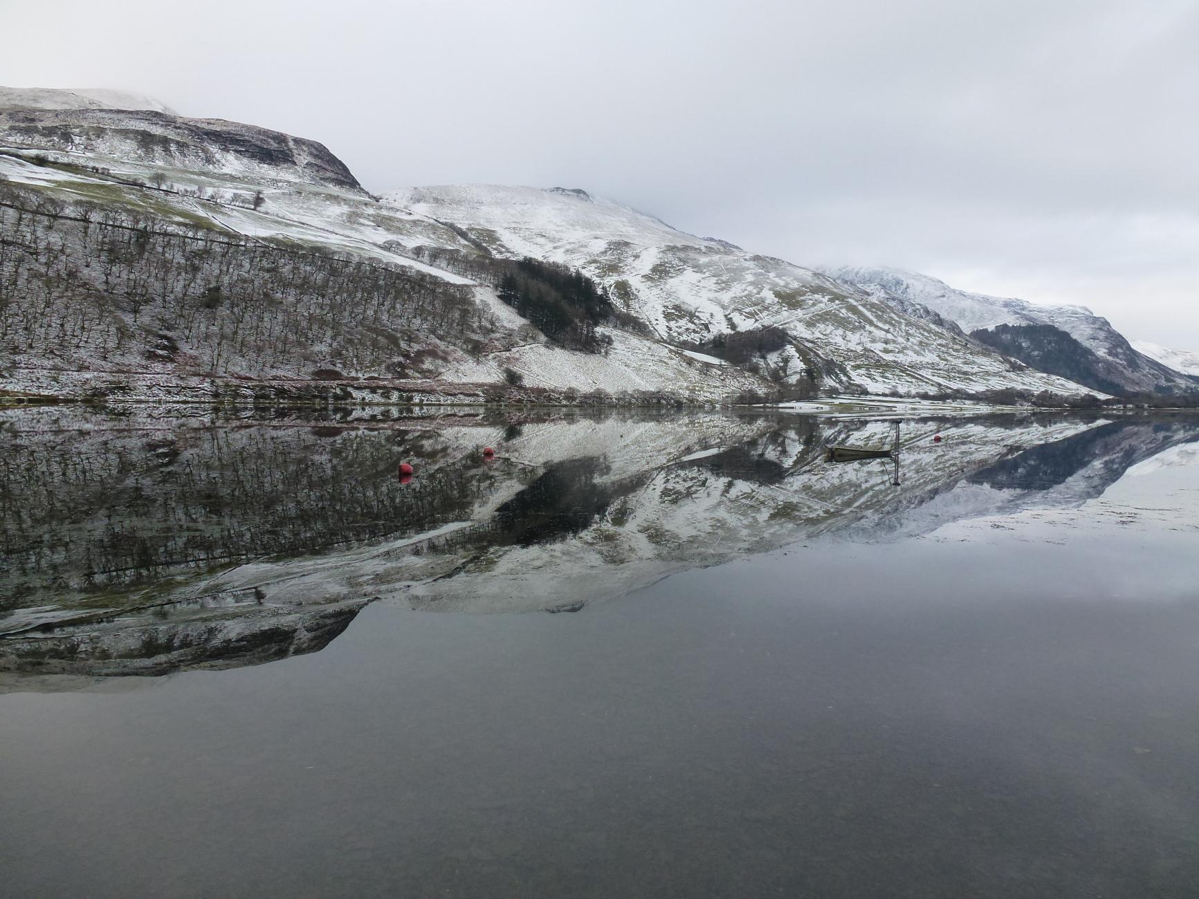 Talyllyn Lake in Winter.