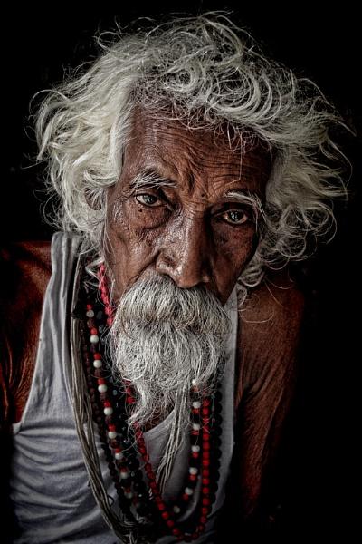 old man of Pushkar Rajasthan by sawsengee