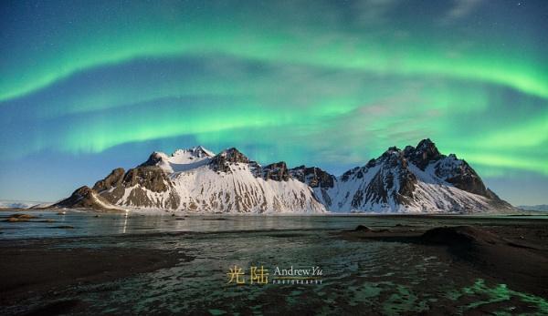 The Aurora Awakens, Vestrahorn, Iceland by awhyu