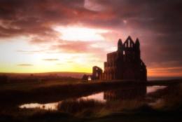 abbey sunset