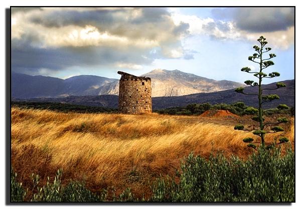 Lone Windmill, Crete. by PatriciaWilson