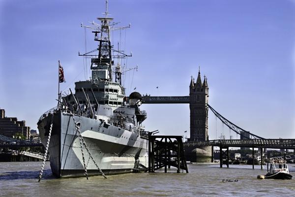 HMS Belfast and Tower Bridge by RPilon63