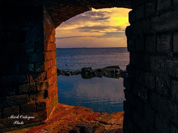 Gun Port at Sunset by mordoyne