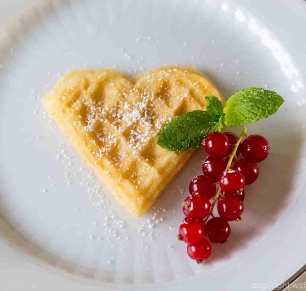 homemade waffle heart by wsfeph