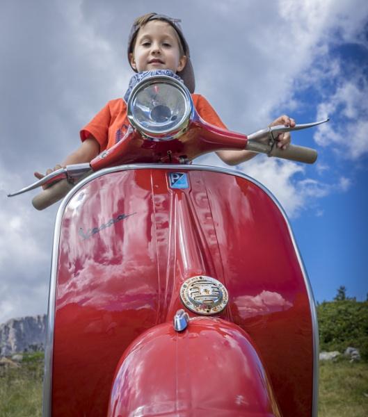 Little biker by fabriziogaluppo