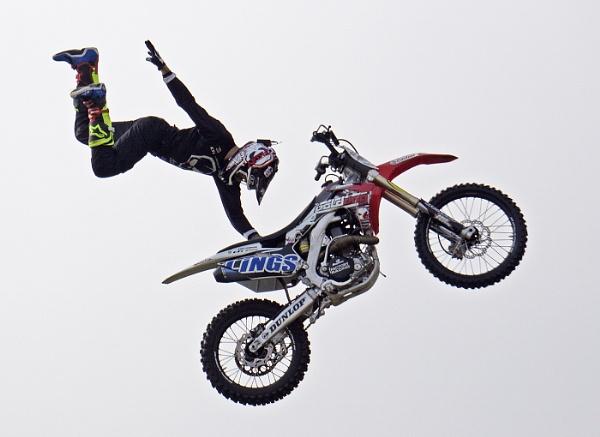 Motorbike Stuntman. by JeanE