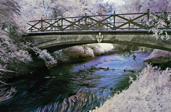 Homersfield Bridge - Infrared Tonned using a 720nm conversion by Adee