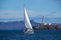 Sailing past Ardnamurchan Point