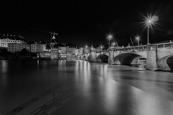 Basel in night by marek100