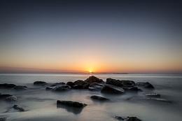 Photo : Sun setting on Stromboli