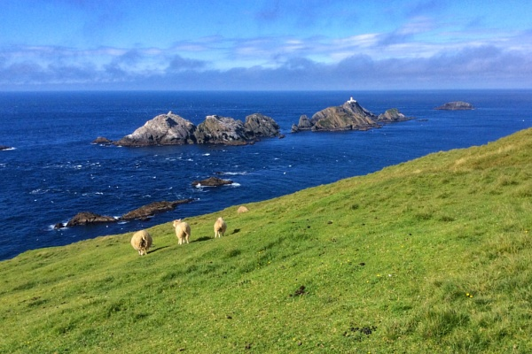 MUCKLE FLUGGA LIGHTHOUSE by Johana