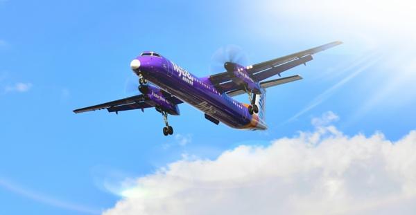 Flyby final approach