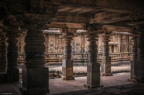 Pillars of Belur by subashcr