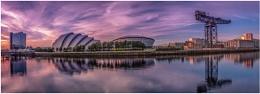 Sunset sky over Clydeside