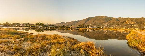 Alykes Salt flats Zakynthos Panorama by DavyB