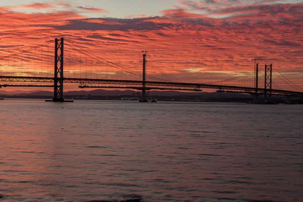 Sunset over the Forth. by CharingPaul