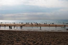 Early evening on a Cornish beach