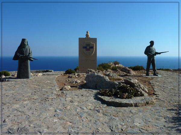 Preveli war memorial by CarolG