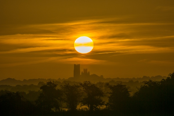 Sunrise over Ely Cathedral, 11th September 2016 by ahesharpe