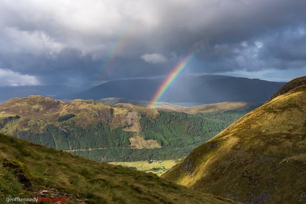 Rainbow over Glen Nevis by geffers7