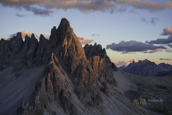 The Last Light in the Dolomites by awhyu