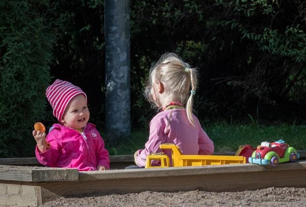 Kids in the sandbox. by Jukka