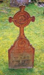Metal  Grave Marker