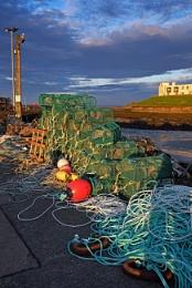 Lobster Pots, Seahouses Harbour Key.