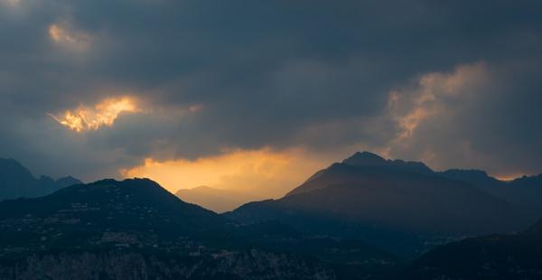 Sunset on a Stormy Lake Garda by jasonrwl