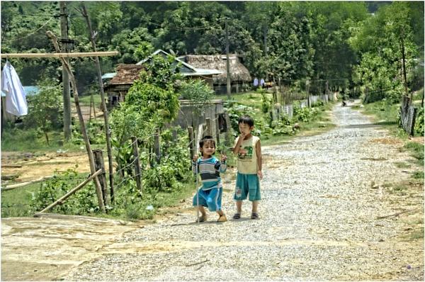 Mountain Village Children by sweetpea62
