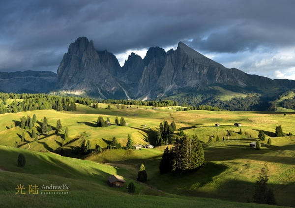 Sunset at Val Gardena, Dolomites, Italy by awhyu