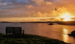 Sunset over Gletness