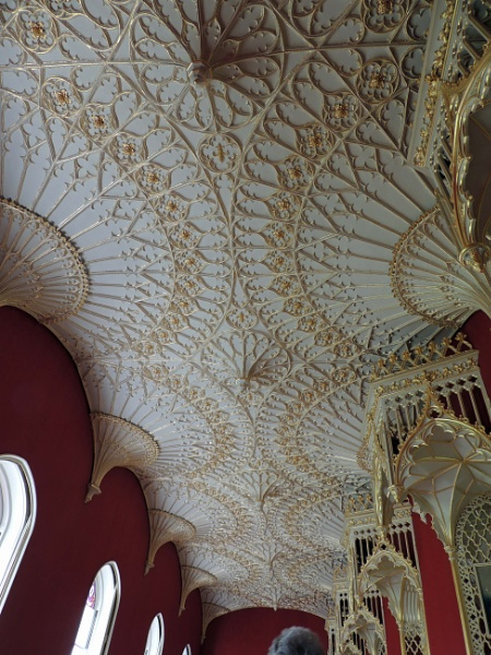 Gallery ceiling, Strawberry Hill House, Twickenham by HerefordAnn