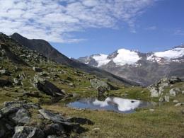 Glaciers from Hangerer in Gurglertal, Tirol