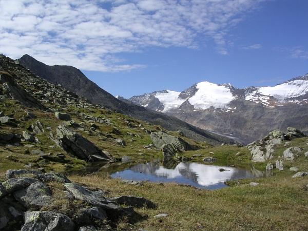 Glaciers from Hangerer in Gurglertal, Tirol by scotsjerry