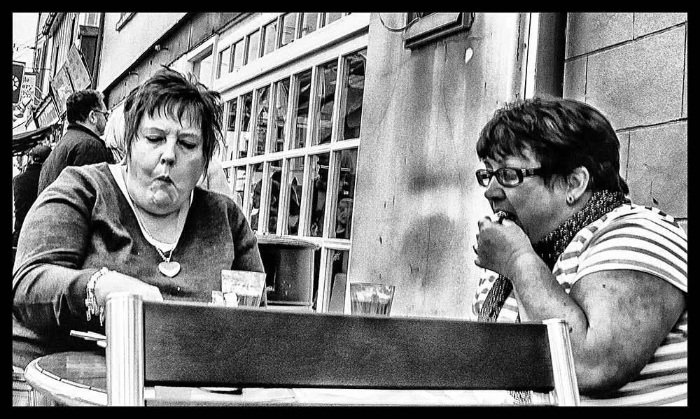 Two Ladies Eating