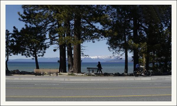 Lake Tahoe & the Sidewalk by prabhusinha