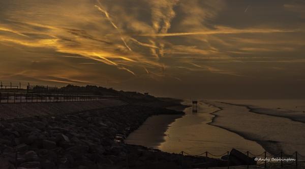 Pendine Sands Sunrise by andybebbs