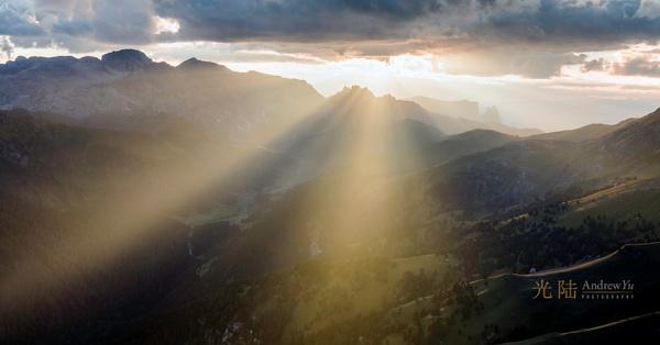 A Burst of Light, Dolomites, Italy by awhyu