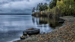 Autumn Evening on the lake