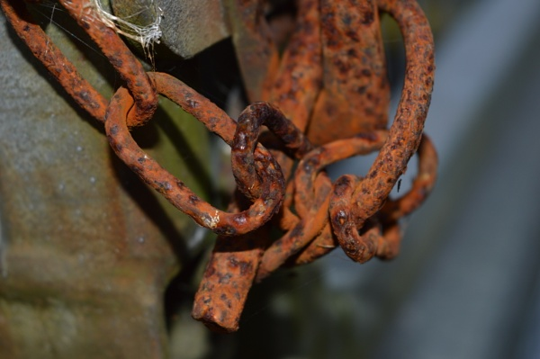 Rusty  chain on a trailer by netta1234