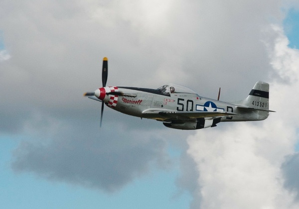 WWII Mustang passing by af1