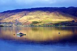 Reflecting on Loch Etive.