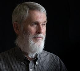 Portrait with white beard