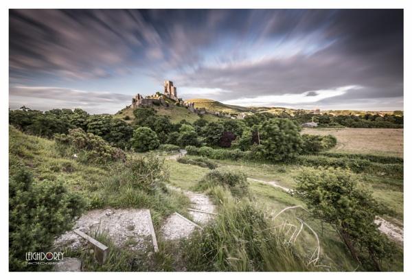 Corfe Castle Evening Blur by LDorey