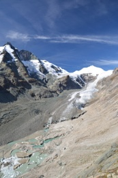 The Grossglockner pass glacier