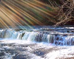 Photo : rays of light