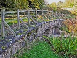 Twin Arch Stone Footbridge.